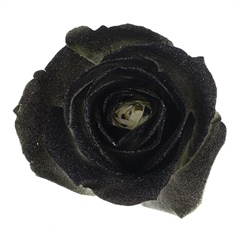 Avalanche Crystal Look Black Rose